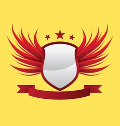 wing-shield-red vector image vector image