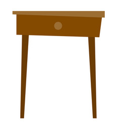 bedside table cartoon vector image vector image