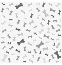 Bone for dog seamless texture vector image