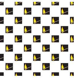 burning match pattern vector image