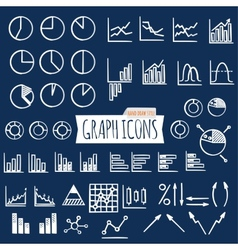 Business charts Hand Draw style Set of thin line vector image