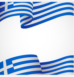 decoration of greek insignia on white vector image