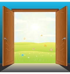 Doors to Nature vector image