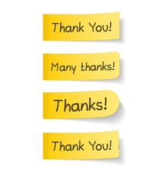 Thank You vector image vector image