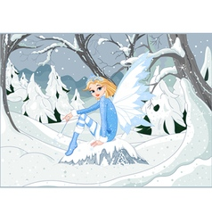 Winter Fairy vector image vector image