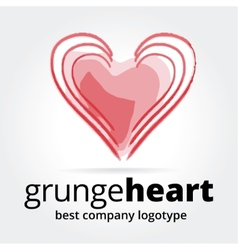 Abstract heart logotype concept isolated on white vector image vector image