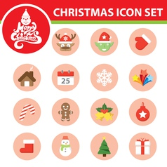 Christmas symbol icon set vector image vector image