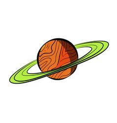 color sketch saturn vector image vector image