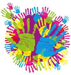 hand print 01 vector image vector image