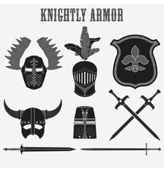 knightly armor vector image vector image