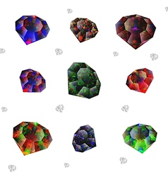 rhinestones on a white background vector image