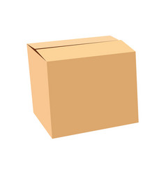 sealed cardboard box isolated on white vector image