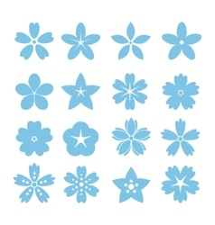 Set of flat icon flower icons vector image vector image