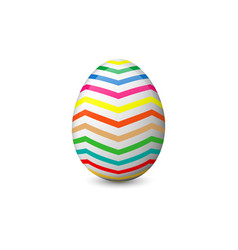 the painted easter egg vector image vector image