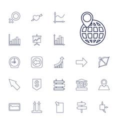 22 arrow icons vector