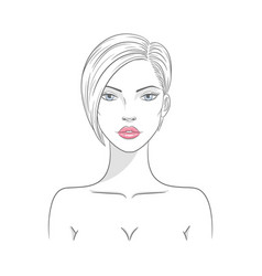 a beautiful fashion woman vector image