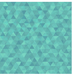 Abstract triangle in green background vector