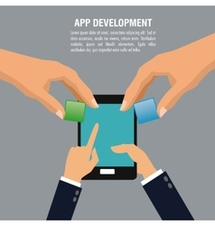 App development technology design vector