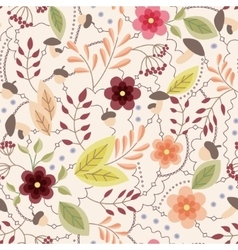 Autumn seamless pattern vintage vector image