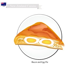 Bacon and Egg Pie New Zealand Dish vector image