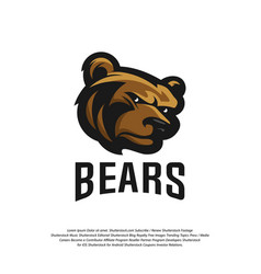 bear logo design modern professional grizzly vector image