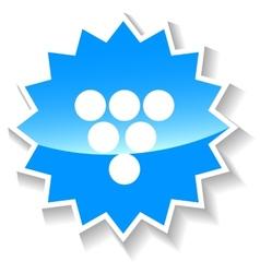 Billiards blue icon vector