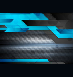 Black and blue abstract technology background vector