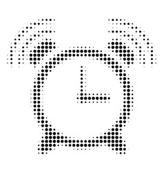 Black dotted buzzer icon vector