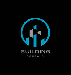 Building logo design template construction vector