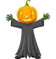 cartoon halloween pumpkin vector image