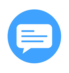 Chat icon sign with text symbol vector