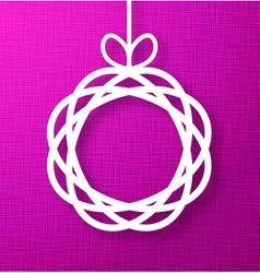 Circle Paper Applique on Purple Canvas Background vector image