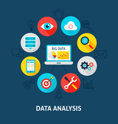 concept data analysis vector image