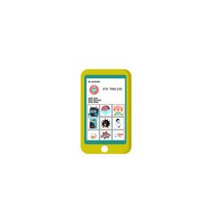 Coronavirus information display in phone vector