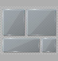 creative of glass plates vector image
