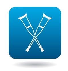 Crutches icon in simple style vector