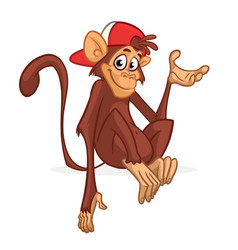 Cute cartoon monkey chimpanzee vector
