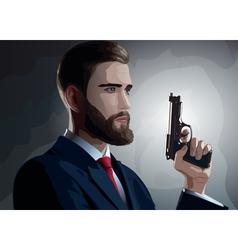 Danger man with gun vector