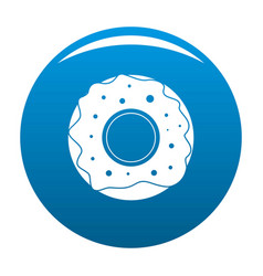 donut icon blue vector image