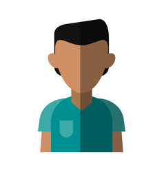 Faceless man icon image vector