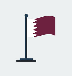 flag of qatarflag stand vector image