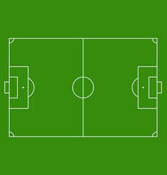 Football soccer green field background vector