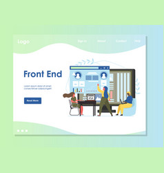 front end website landing page design vector image