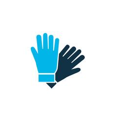 Gloves icon colored symbol premium quality vector