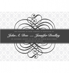 gray ornate swirl banner vector image