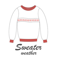 greeting card with sweater vector image