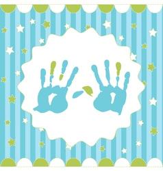 handprint of boy vector image