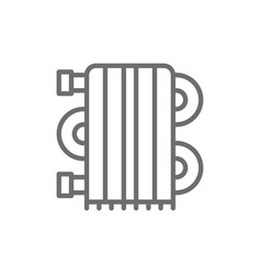 heating radiator heater line icon vector image