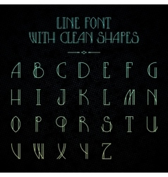 Hipster font with linear letters vector image