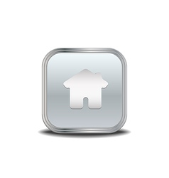 Home icon metal button vector image